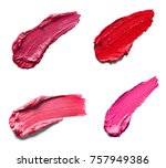 collection of various lipstick... | Shutterstock . vector #757949386