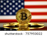physical version of bitcoin ... | Shutterstock . vector #757953022