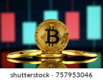 physical version of bitcoin ... | Shutterstock . vector #757953046