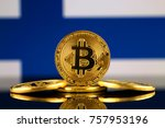 physical version of bitcoin ... | Shutterstock . vector #757953196