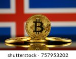 physical version of bitcoin ... | Shutterstock . vector #757953202