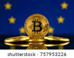 physical version of bitcoin ... | Shutterstock . vector #757953226