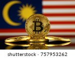 physical version of bitcoin ... | Shutterstock . vector #757953262