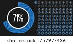 set of circle percentage...   Shutterstock .eps vector #757977436