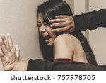 sexual abuse of couple or... | Shutterstock . vector #757978705