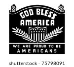 God Bless America   Retro Ad...