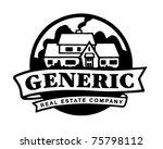 Real Estate Emblem   Retro Ad...