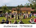 hallesaker  sweden   june 20 ... | Shutterstock . vector #757985818