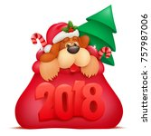 new year invitation card... | Shutterstock .eps vector #757987006