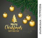 merry christmas design | Shutterstock .eps vector #757993306