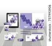business stationary template...   Shutterstock .eps vector #757993906