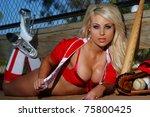 sexy baseball girl | Shutterstock . vector #75800425