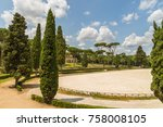 siena square inside the villa... | Shutterstock . vector #758008105