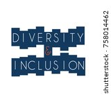diversity and inclusion in... | Shutterstock .eps vector #758014462