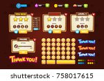 game ui set. complete menu of... | Shutterstock .eps vector #758017615