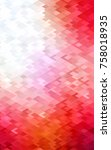 light red polygonal... | Shutterstock . vector #758018935