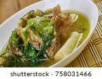 nigerian bitter leaf soup   ... | Shutterstock . vector #758031466