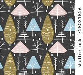 seamless pattern with... | Shutterstock .eps vector #758031856