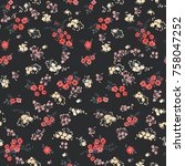 seamless pattern in small... | Shutterstock .eps vector #758047252