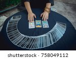 Small photo of Science of prophecy Predictive tarot Horo card Fortune Teller and Gipse card