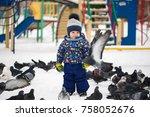 Little Pretty Boy Feeds Birds...