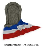 Gravestone And Flag Of...