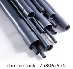 grey pvc u watering system...   Shutterstock . vector #758065975
