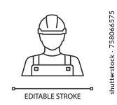 builder linear icon.... | Shutterstock .eps vector #758066575