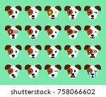 set of cartoon character jack... | Shutterstock .eps vector #758066602