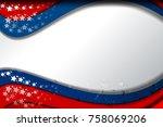 flag of usa background for...   Shutterstock .eps vector #758069206