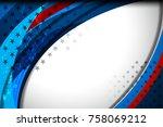 flag of usa background for...   Shutterstock .eps vector #758069212