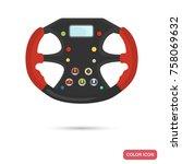 sport car steering wheel color... | Shutterstock .eps vector #758069632