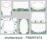 vector set of templates for... | Shutterstock .eps vector #758097472