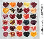 healthy eating super food to... | Shutterstock . vector #758124892