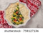 vegetarian casserole gratin...   Shutterstock . vector #758127136