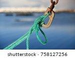 hovsund fishing port line of... | Shutterstock . vector #758127256