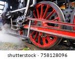 steam locomotive  historic... | Shutterstock . vector #758128096