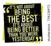 inspirational motivational...   Shutterstock .eps vector #758128972