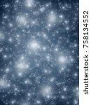 winter scene   snowfall on ... | Shutterstock . vector #758134552