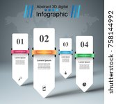3d infographic design template... | Shutterstock .eps vector #758144992