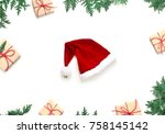 christmas composition.... | Shutterstock . vector #758145142