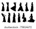 elegant woman silhouette | Shutterstock . vector #75814672