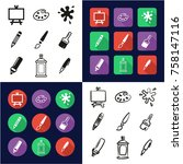 painting or drawing tools all...   Shutterstock .eps vector #758147116