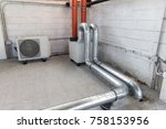 heat recovery unit for... | Shutterstock . vector #758153956