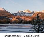 sunset in hight tatras. evening ... | Shutterstock . vector #758158546