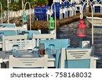 fish restaurant in gumusluk  | Shutterstock . vector #758168032