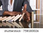 close up of a human hand... | Shutterstock . vector #758183026