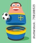 sweden soccer mascot | Shutterstock .eps vector #758188525