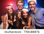 celebrating new year together.... | Shutterstock . vector #758188876