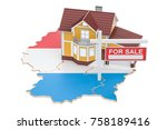 property for sale and rent in... | Shutterstock . vector #758189416